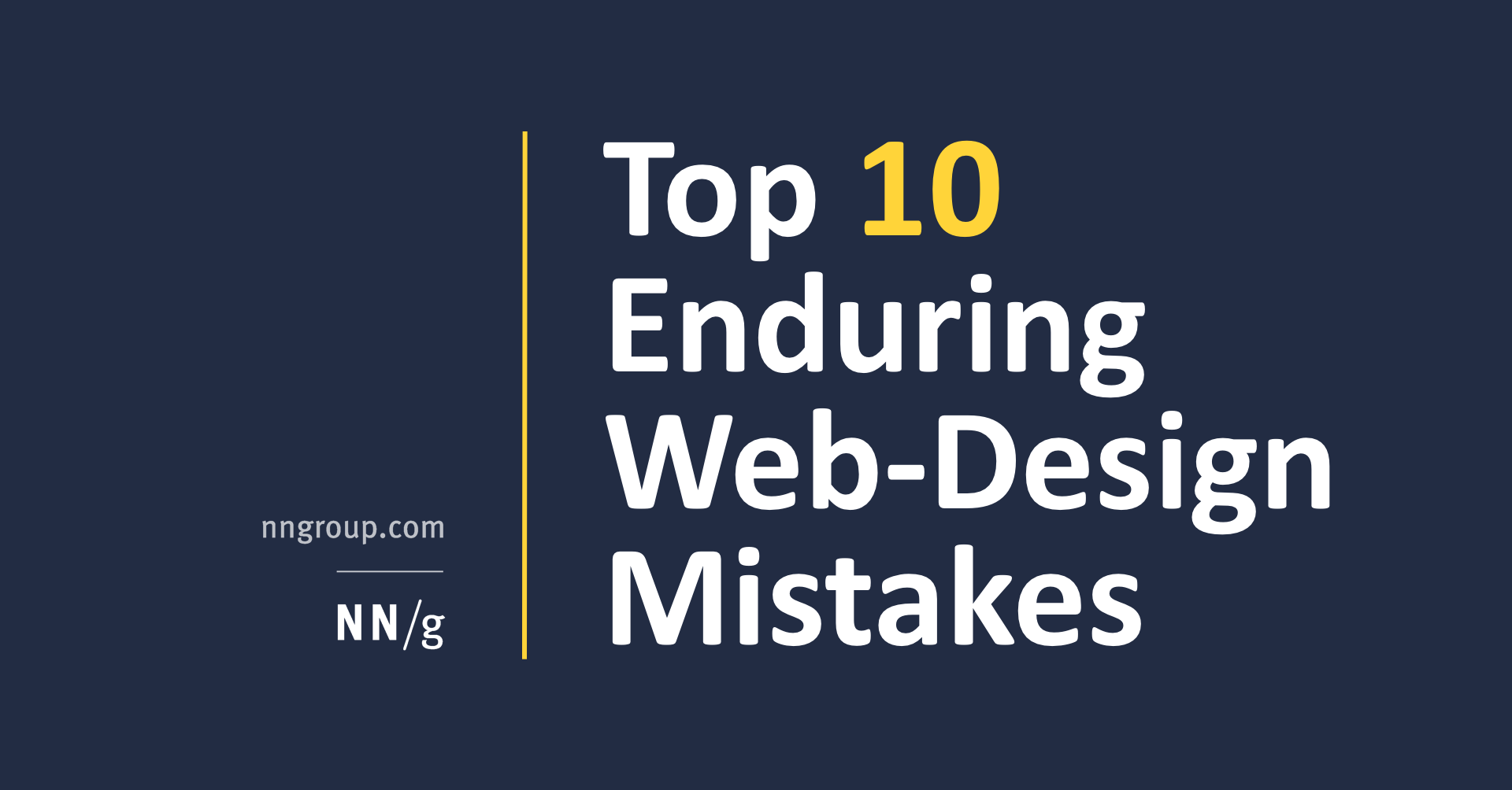 Top 10 Enduring Web-Design Mistakes