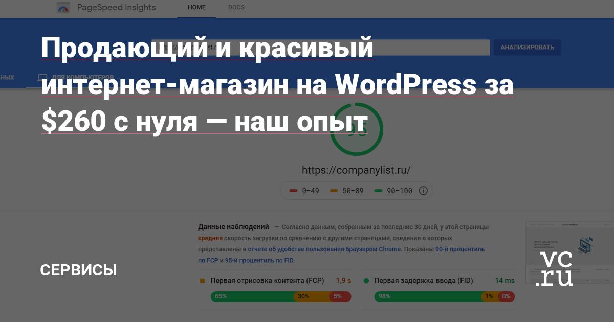 Продающий и красивый интернет-магазин на WordPress за $260 с нуля — наш опыт
