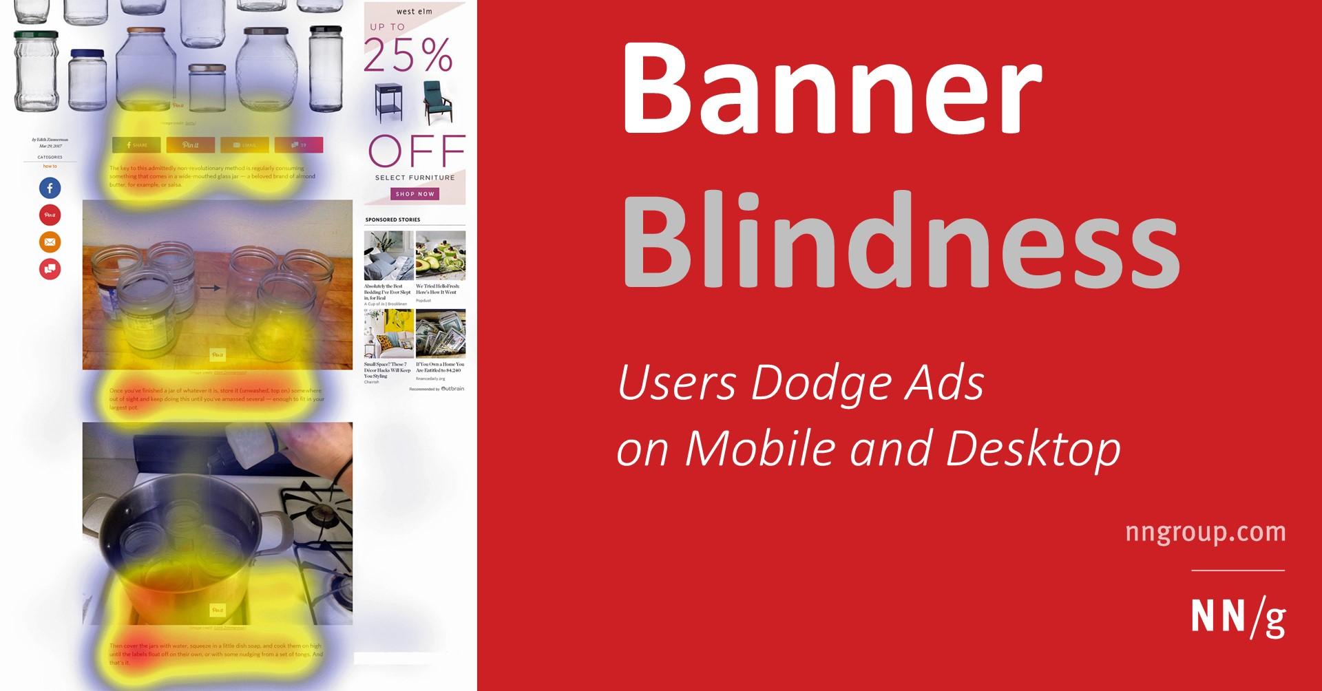 Banner Blindness Revisited: Users Dodge Ads on Mobile and Desktop