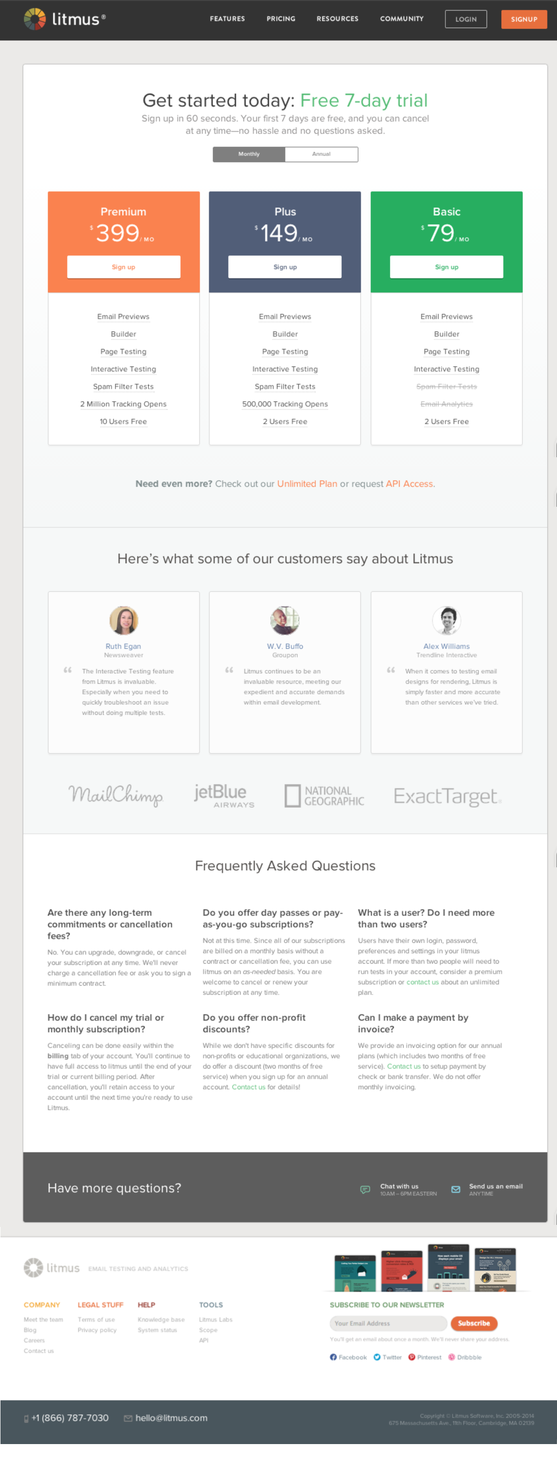 26 Pricing Page Examples and Best Practices