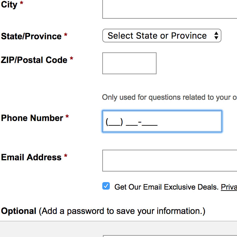 Form Field Usability: Consider Using Localized Input Masks for Phone and Other Restricted Inputs (64% Don't)