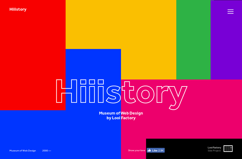 Hiiistory: Museum of Web Design  by Looi Factory