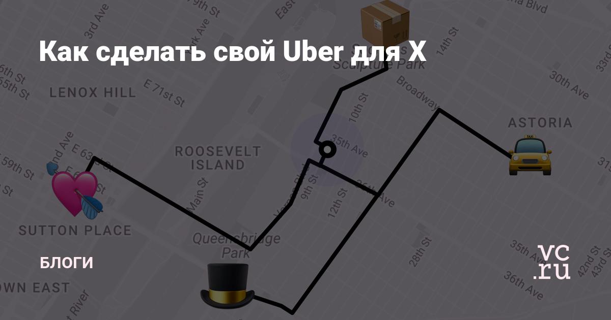 Как сделать свой Uber для ___