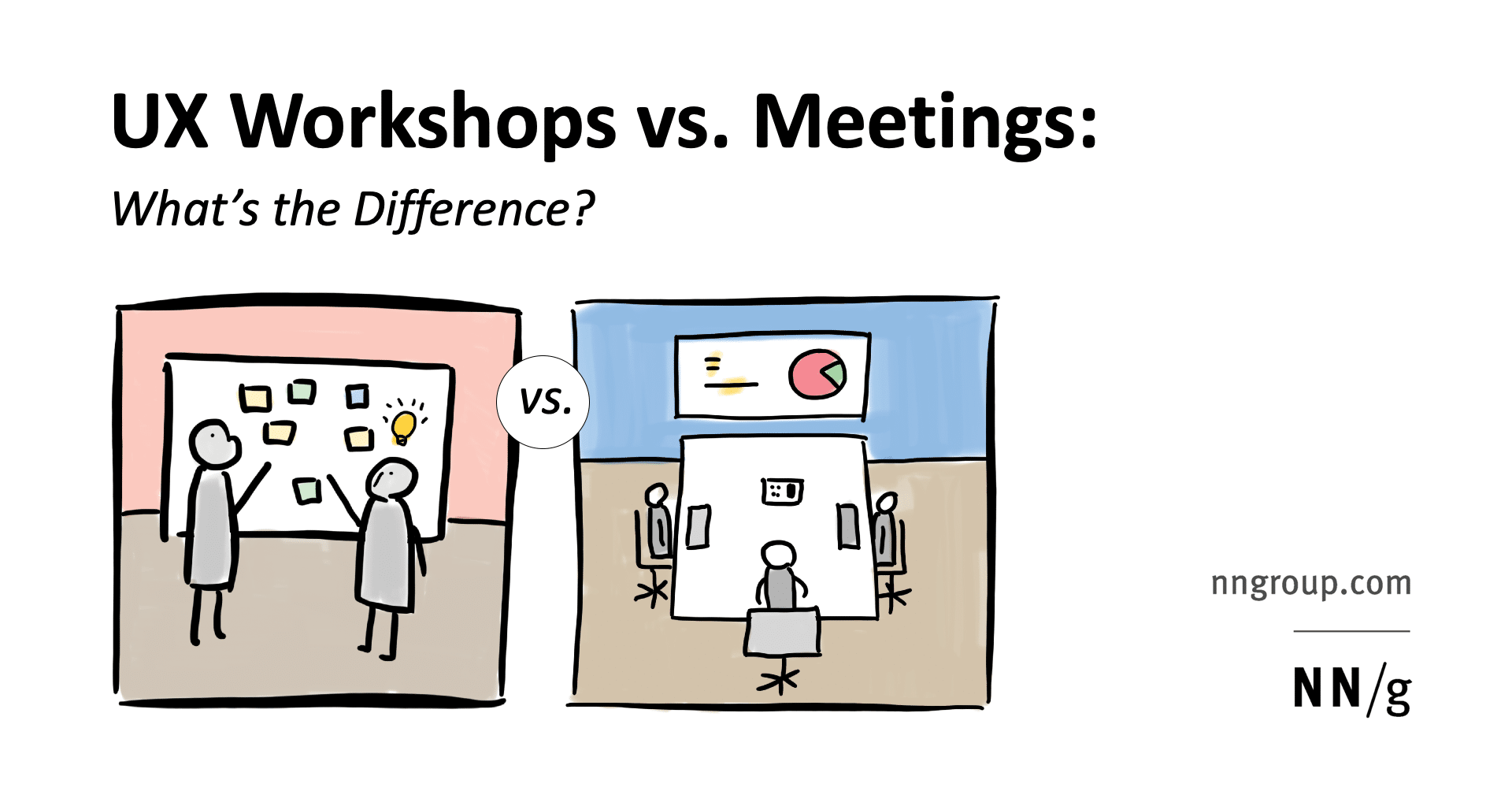 UX Workshops vs. Meetings: What's the Difference?